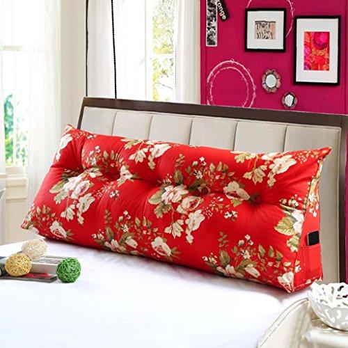 MMM- Coussin triangulaire de lit de coussin de lit de coussin de lit de sofa de grand dossier (Couleur : #6-100cm)