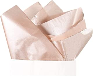 UNIQOOO 40 Sheets Premium Metallic Rose Gold Champagne Gold Tissue Gift Wrap Paper Bulk - Recyclable Gift Wrapping Accessory - Perfect for Gift Bags, Wedding, Party, DIY Crafts - 20
