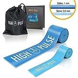 High PulseFloss Band | Incl. Bolsa de transporte y accesorios – 2 bandas de compresión – Bandas fitness de atletas para articulaciones, tendones y ligamentos + mini banda para los dedos
