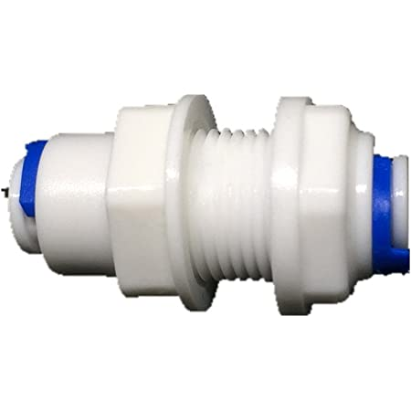 10 Pieces White Plastic Straight Quick Bulkhead Connector for Water Dispensers