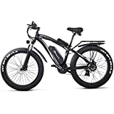 Shengmilo 26 Zoll Fat Tire E-Bike 48V 1000W Motor Snow Electric Bicycle mit Shimano 21-Gang Mountain...