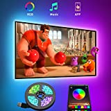 TV LED Backlight, 9.8ft Smart LED Strip Lights for 24-60 Inch TV with Bluetooth APP Control, 16 Million Colors, 20 Flash Modes, Music Sync Dance, TV PC Bias Lighting, USB Powered