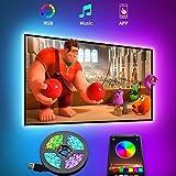 TV LED Backlight, 9.8ft Smart Bluetooth LED Strip Lights for 24-60 Inch TV, APP Control,...