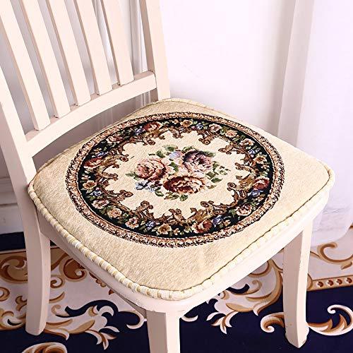 LUNANA zitkussen, stoelkussen, klassiek meubel, sofakussen, zitkussen, verdikt schuim, 100% katoen, dikke bekleding, gewatteerd, vloerkussen, 45 x 45 cm, 48 x 48 cm