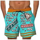 Badehose für Herren Schnelltrocknende Badeshorts mit Kordelzug Beachshorts Print Schwimmhose Modische Strandhose Badeshorts mit Taschen