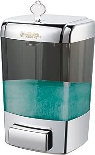 SVAVO Soap Dispenser Wall Mount 23.7oz / 700ml, Household Commercial Soap Dispenser Bathroom, Hand Soap Dispenser Wall Mounted for Liquid Sanitizer, Shower Body Wash, Restaurant, Kitchen, ABS Chrome