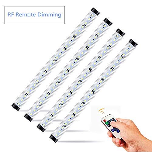 LED Safe Lighting Kit, 4 PCS 13.8 Light Bars per Kit,Daylight 5000K, Dimmable Remote Control Switch, for Under Cabinet Lighting, Locker, Closet, Shelf Lighting. (Daylight, 4 Kit)