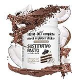 pasto sostitutivo nutri diet complete al gusto di torta al cocco e cioccolato line@diet | 500g, 14 pasti completi | ricco di vitamine e minerali