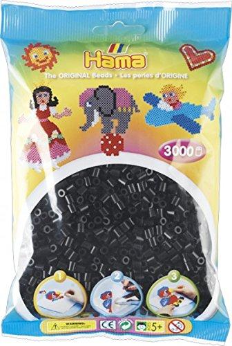 Hama Beutel mit 3000 Bügelperlen schwarz