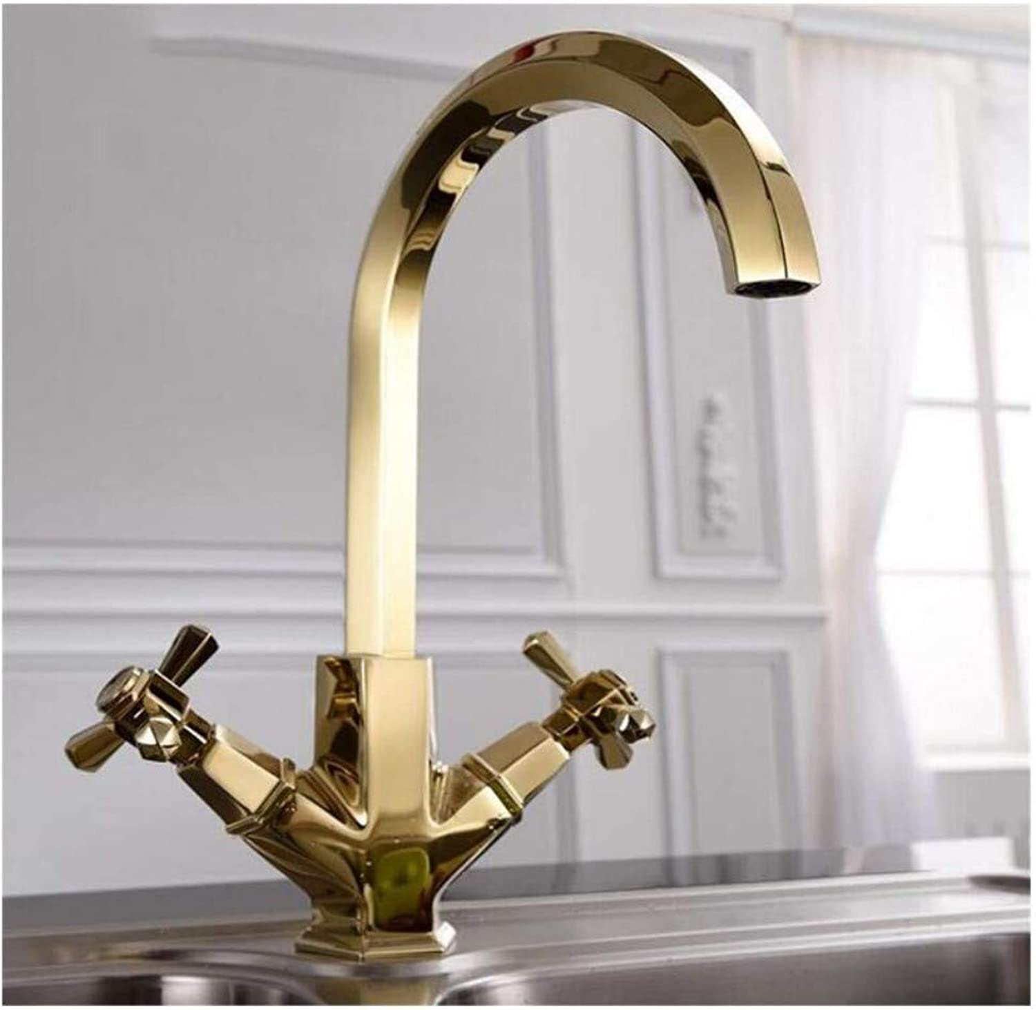 Faucet Lead-Free Square Innovationfaucet Unique Design 360 Degree Swivel Modern Hot& Cold Mixer Sink Faucets