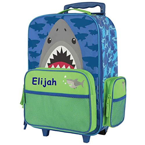 Personalized Kids Rolling Luggage (Shark)