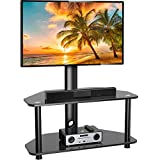 Swivel Floor TV Stand/Base for 32-55 Inch TVs-Universal Corner TV Floor Stand with Storage Perfect...