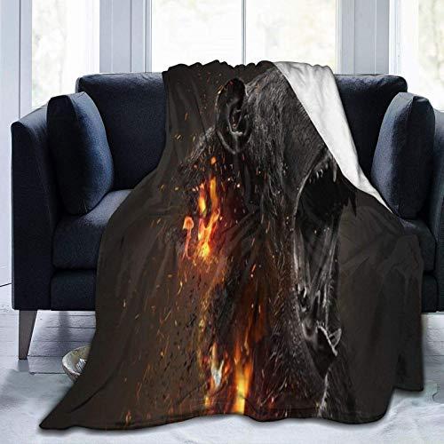 Ni-r-v-a-n-a, coperta in pile ultra morbida, per decorare la casa, 152,4 x 127 cm