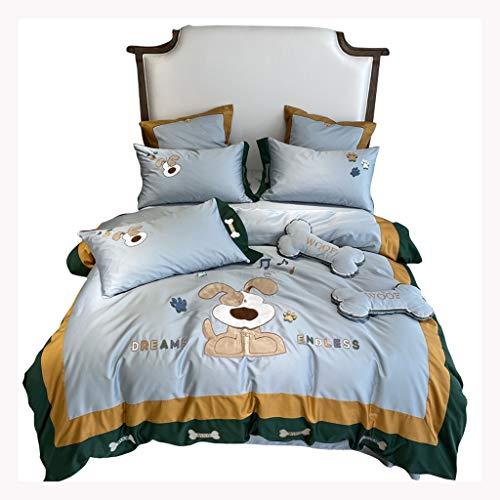 ZSQAW 60s Long-Staple de algodón Juego de Ropa de Cama de Color sólido Egipcio Bordado de Bordado Conjuntos de Cama edredón Cubierta de Cama Conjuntos de Cama (Size : 1.8m)