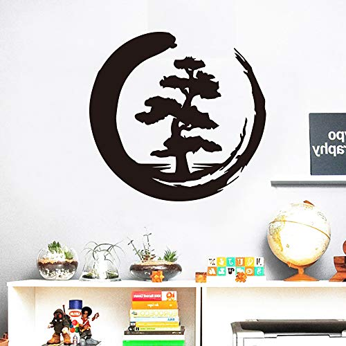 Typpk mond baum muster kreative wandaufkleber wohnzimmer dekoration wasserdicht vinyl kunst schlafzimmer art deco wandaufkleber rosa 43x41 cm