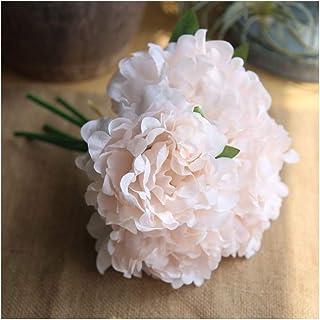 Artfen 5 Heads Artificial Peony Silk Flower Fake Hydrangea Flowers Home Bridal Wedding Party Festival Bar Decor Approx 7.5...