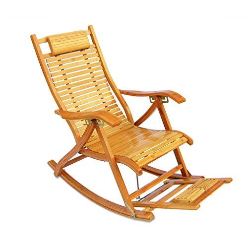 YNLRY - Silla mecedora plegable para el almuerzo, estilo antiguo, para adultos, madera robusta, Color madera, B