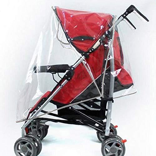 Weichuang - Funda impermeable para cochecito de bebé, universal, PVC, buena circulación de aire, protección contra lluvia y viento