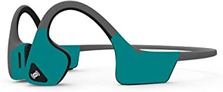 MightySkins Skin Compatible with Aftershokz Trekz Air Wireless - Solid Teal   Protective, Durable, and Unique Vinyl Decal ...