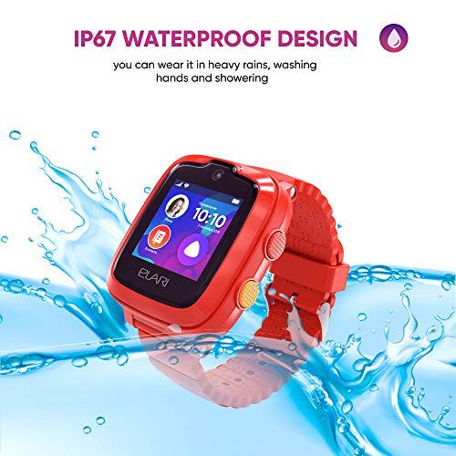 Elari Reloj Inteligente para niños, IP67 a Prueba de Agua con Llamadas de Audio y Video, 2G, 3G, 4G LTE, Soporte WiFi, Reproductor de MP3, GPS, LBS y botón dedicado SOS