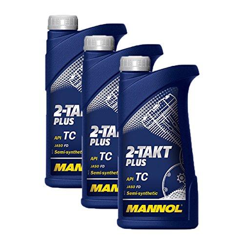 3X MANNOL MN7204-1 2-Takt Plus Motorradöl API TC 1L