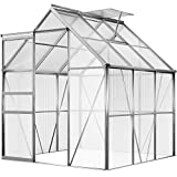 Deuba Invernadero de jardín vivero de Aluminio y policarbonato 3,7m² germinación plantación...