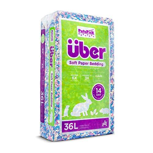 PETSPICK Uber Soft Paper Pet Bedding for Small Animals, Confetti, 36L