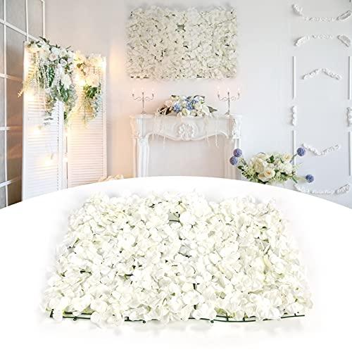 Parede de flores artificiais, tapete de parede de flor de hortênsia de seda pura e elegante para fundo de palco para festa de casamento