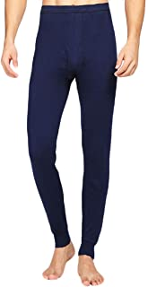 Inlefen Men's Thermal Bottoms Warm Pants Cotton Warm Winter Outdoor Man Thermal Long John Underwear