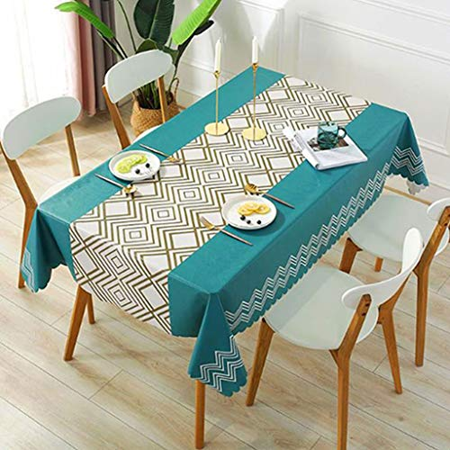 GJHBFUK Mantel de PVC para mesa de casa, rectangular, para comedor, antiquemaduras y aceites, pvc, B, 100*138cm