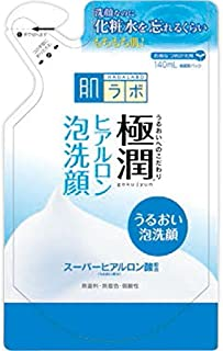 Rohto Hadalabo Gokujyun Super Hyaluronic Acid Deep Moisturizing Cleanser Refill 140ml (Japan Import)