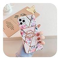 Yokkg フィンガーリングホルダー大理石の電話ケースFor iPhone11 12 Mini Pro 8 7 X XR XS Max 6S 6 Plus SE2020ケースカバーシリコンバックシェル-4-For iphone 6 or 6S