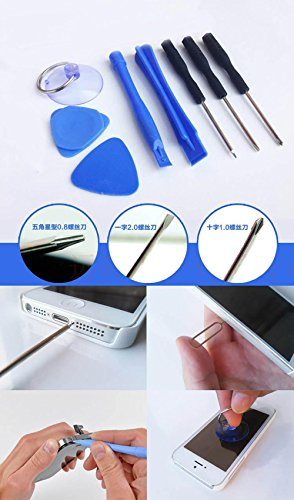 8 in 1 Repair Opening Pry Tools Screwdriver Kit Set for iPhone SE / 6s / 6s Plus / 6/6 Plus / 5S / 5 / 4S / 4 / 3G / iPod Touch for Samsung