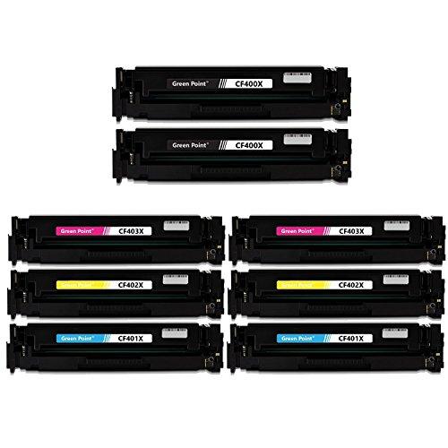 Greenpoint 8 Toner Kompatibel zu HP 201X CF400X CF401X CF402X CF403X Color LaserJet Pro 200 M252dw M277dw M277n M277c6 M274n Multifunktionsdrucker