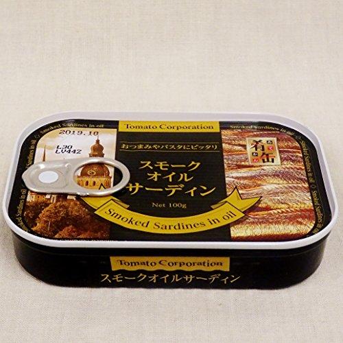 トマトコーポレーション肴缶スモークオイルサーディンsmokedsardineinoil100g缶詰