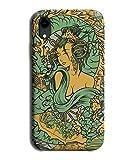 Coque pour Sony Xperia Z3 Motif dragon autour d'une femme Vert et jaune