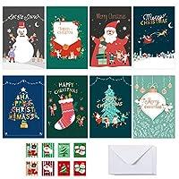 Goenn 6枚 クリスマスカード 挨拶状封筒セットサンタクロースかわいい動物ダイヤモンド絵画ホリデーカード グリーティングカード ニューイヤーカード クリスマスカード 挨拶状封筒 ポストカード 感謝カード ポップアップカード誕生日 母の日カード 結婚記念カード 祝賀カード 3Dポップアップカード サンキューカード 新年 品質カード