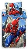 Spiderman Marvel Blue - Parure de lit Enfant - Housse de Couette Coton