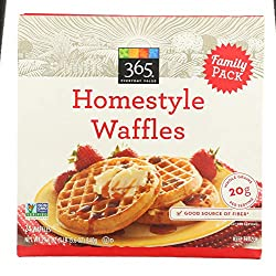 365 Everyday Value, Homestyle Waffles, Family Pack, 24 ct, (Frozen)