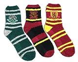 Harry Potter Socken, Hogwarts Gryffindor Slytherin Design, 3er Pack Socken, Hausschuhsocken Erwachsene, Geschenke, Einheitsgröße EU 36 bis 40