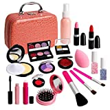 Fake Makeup Toy Girls Gifts - Fake Kids Make Up Set Pretend Makeup Kit for Kids Children Little Girls Princess Pretend Play Christmas Birthday Gifts for 3 4 5 6 Years Old Girl Gift