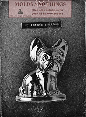 FRENCH BULLDOG Chocolate candy mold Side A with copywrited molding Instructions