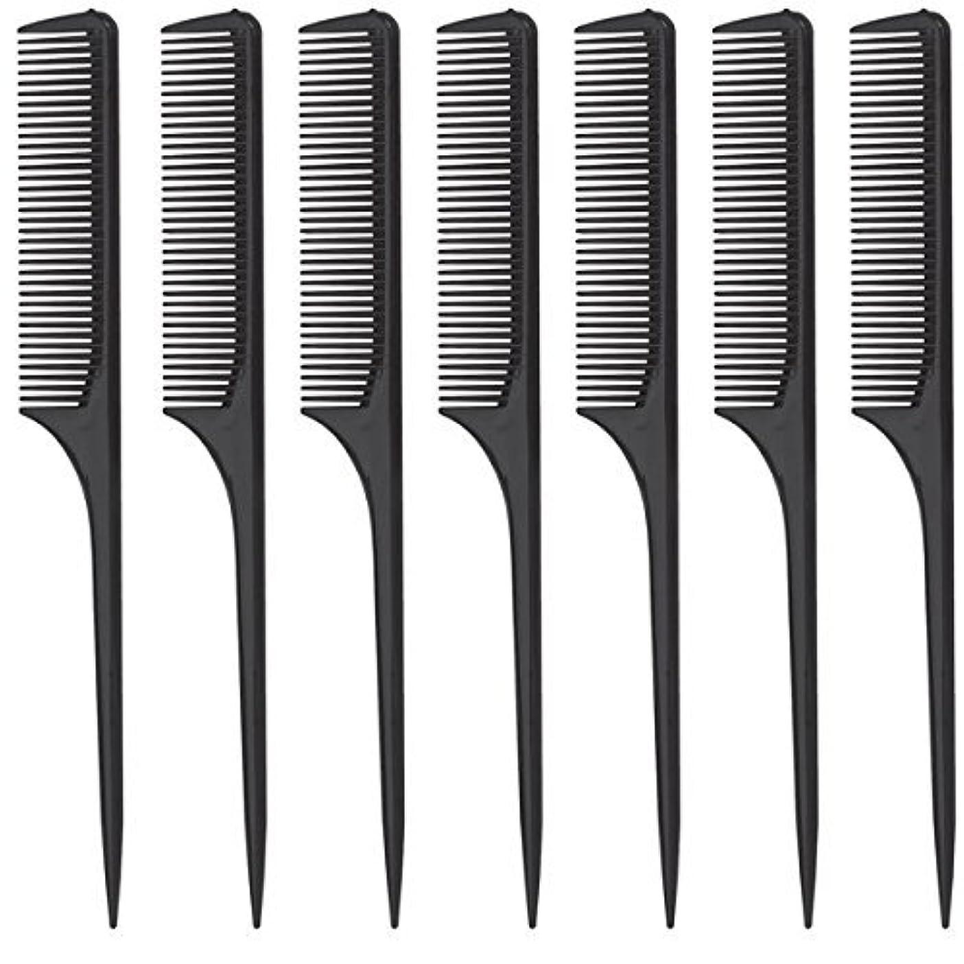 散文インタラクション愛するDiane Rat Tail Comb, Black, 9 Inch, 12 Count [並行輸入品]