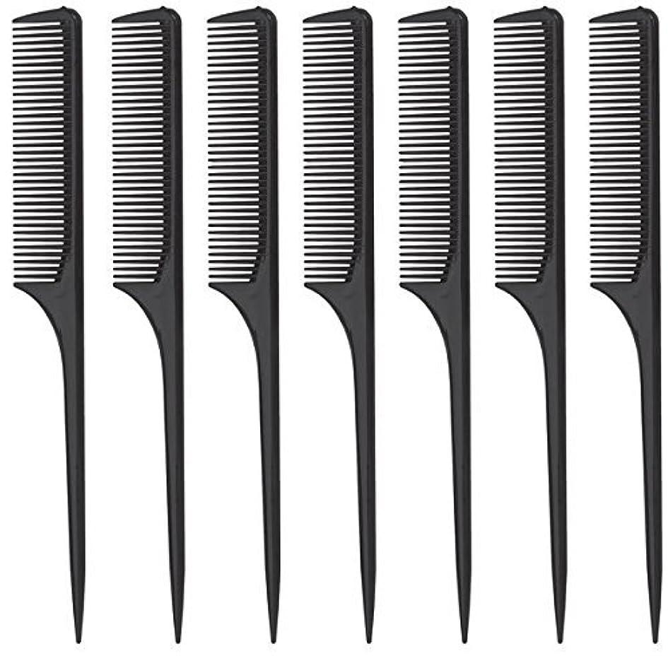 まさに個人的なランダムDiane Rat Tail Comb, Black, 9 Inch, 12 Count [並行輸入品]