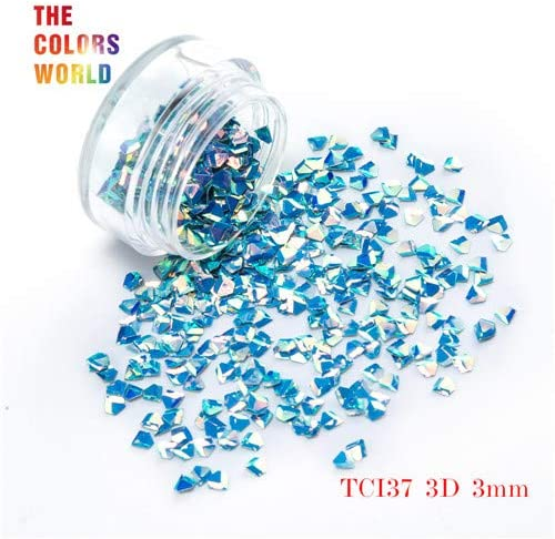 Gabcus TCT-048 3D Effect 3MM Jewelry Shape Glitter Ranking TOP19 Genuine Free Shipping Set 12 Colors