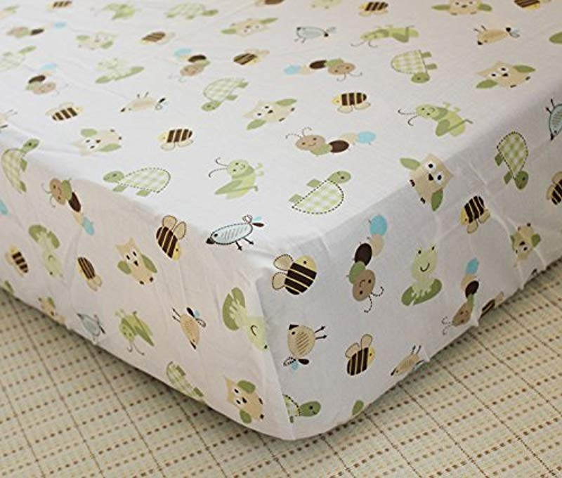 Baby Crib Bedding Sheets Cotton Crib Sheet Cute Cartoon Print Fitted Crib Sheet Of All Kinds White Bee Turtle