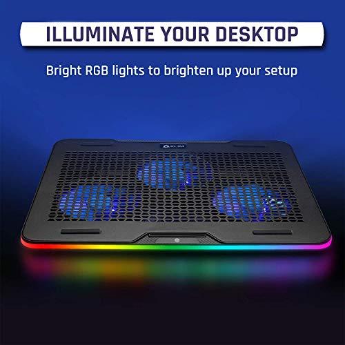 KLIM Aurora + Base di Raffreddamento RGB per PC Portatili da 11