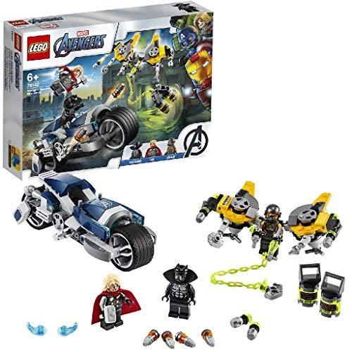 LEGO Marvel L'attaque du Speeder Bike des Avengers, Set de jeu,...