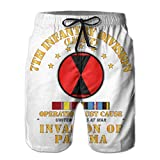 VFBGF Shorts pour Hommes Pantalons à Cinq Points Pantalons de Plage Pantalons décontractés Just Cause - 7th Infantry Division W SVC Ribbons Summer Must-Have Beach Men's Beach Shorts