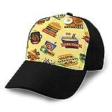 LJKHas232 Vintage Cap Hat Sombrero de béisbol Ajustable para Unisex Natural Restaurante de Comida...